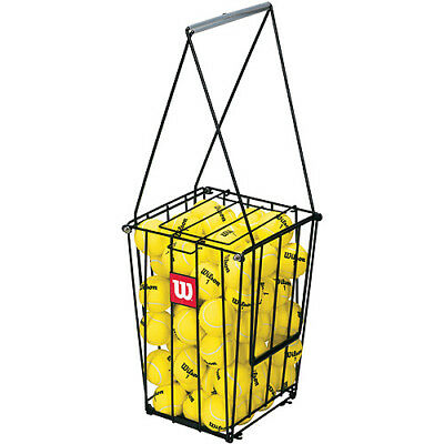 Tennis Ball Storage Basket Pick Up Hopper Portable Training Compact Stand Holder