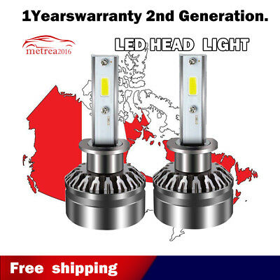 H1 60W/pair 6500K LED Headlights Bulbs High Beam for Sorento Optima Forte COB 2X
