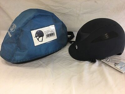 Gatehouse conquest Mark 2 Suedette Navy riding hat 56cm