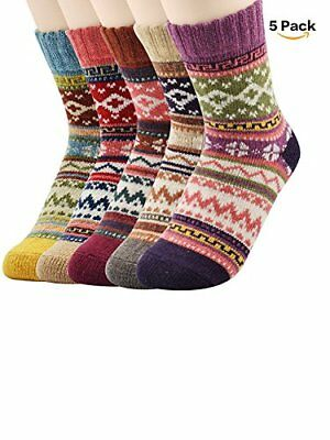 New Cold Women's Fun Crew Cozy Comfy Warm Winter Boot Socks For Women Casual