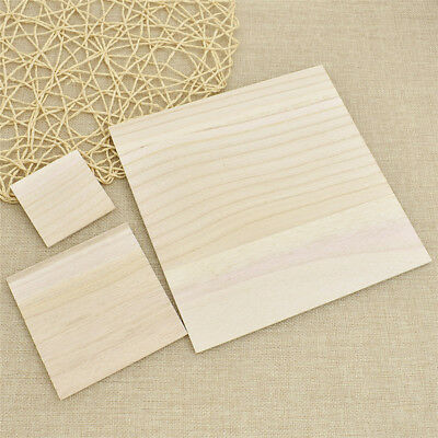 1 Set Wooden Square Unfinished Wood Pieces DIY Multi-Purpose Craft Supplies Kids