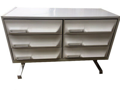 MID CENTURY MODERN DRESSER CREDENZA CHEST of DRAWERS RAYMOND LOEWY SPACE AGE BAR
