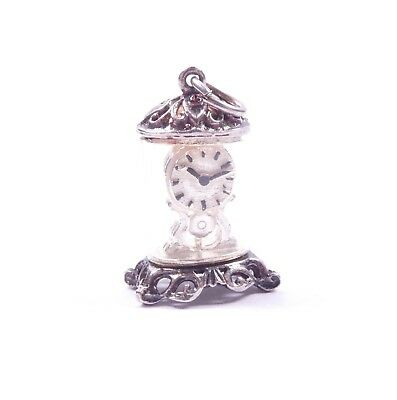 Vintage Silver Charm Carriage Mantle Clock 925 Sterling  4.1g