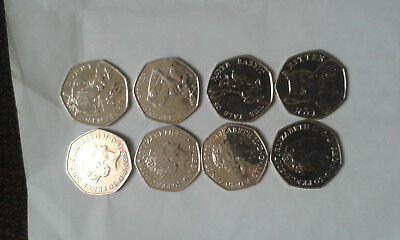 Beatrix Potter Mr Jeremy Fisher 50p coins in very good condition.