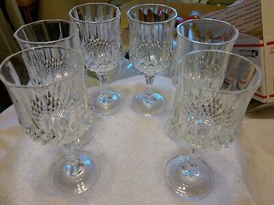 CRISTAL D'ARQUES LONGCHAMP 24% LEAD CRYSTAL Wine OR  SHERRY  GLASSES 5 3/4 oz