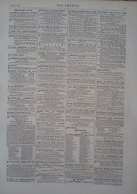 1875 Advert Chapman's Drapery Stores-Provincial Newspaper Agency-Peter Robinson