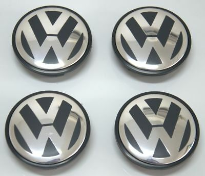 4Pcs Wheel Center Caps Hub Cover Logo Emblem Badge For Volkswagen VW 65mm Set
