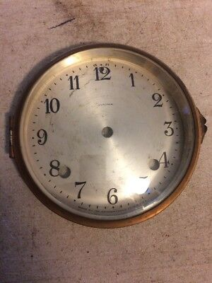 Antique Ansonia Tambour Mantle Clock Dial And Bezel With Glass