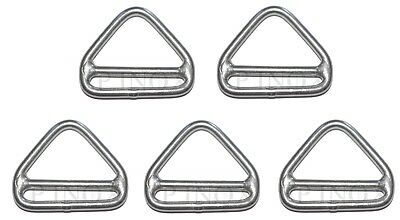 Anneau Triangulaire Barrette 6mm ( Lot de 5 ) inox A4 - 316 Triangle
