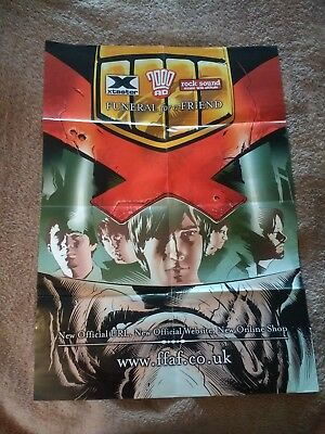 2000ad Funeral For A Friend Poster Mag