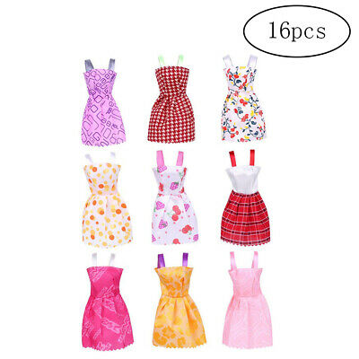 16 Pack Barbie Doll Clothing, Barbie Doll Clothes Party Gown Outfits 29cm 11""