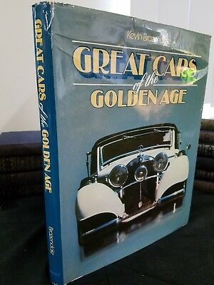 """""""Great Cars of the Golden Age"""" Kevin Brazendale 1979 Very Good color-Illustrated"""