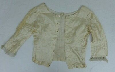 Antique Silk Ladies Top Blouse Lace Sleeves Victorian Edwardian Handmade
