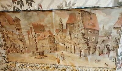 antique 19C.    wall hanging tapestry 56 x 32 inch