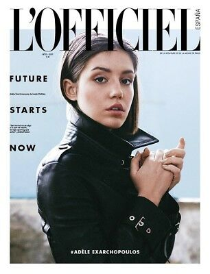 Adele Exarchopoulos L'Officiel Spain Magazine 2017 Cover Exclusive Editorial