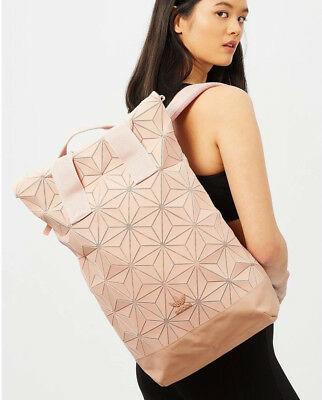 f767fce68a29 Adidas Originals 3D Roll Top Pink Ash Pearl Backpack Issey Miyake Style  DT6296