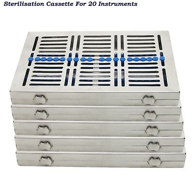 Dental Sterilisation Cassettes Autoclavable for 20,10,7 and 5 instruments trays