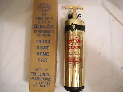 "Vintage Brass General Quick-Aid Extinguisher ""chris-Craft"" 1952 - 1955"