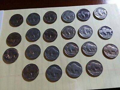 Buffalo Nickels. Lot Of 22. Mixed Dates And Mint