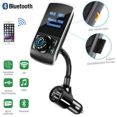 Upgraded Version Nulaxy Wireless In-Car Bluetooth FM Transmitter Radio Adapt T10