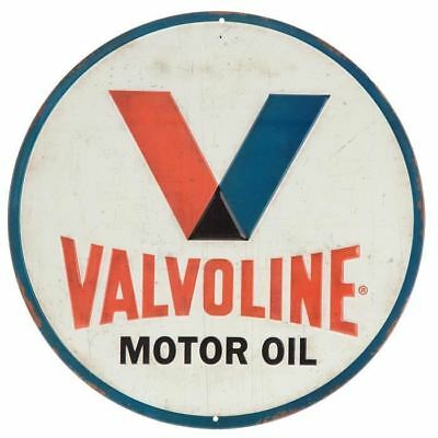 Valvoline Motor Oil Embossed Metal Tin Sign