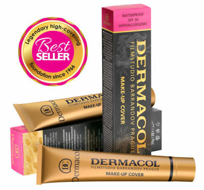 AUTHENTIC Dermacol Full Coverage Makeup Foundation Hypoallergenic Waterproof SPF