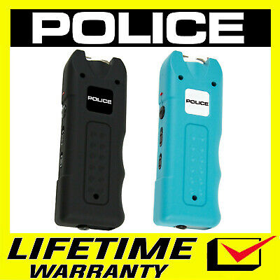 POLICE Stun Gun 628 160 BV Rechargeable With Siren Alarm - Black and Pink