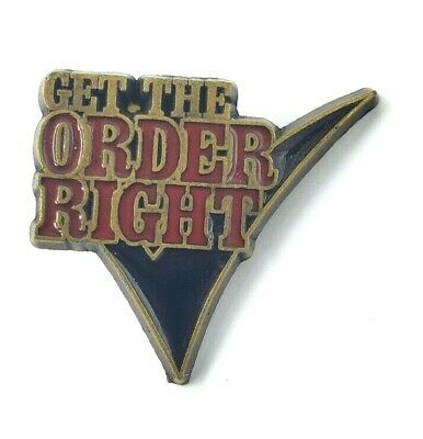 Wendy's Lapel Pin - Get the Order Right
