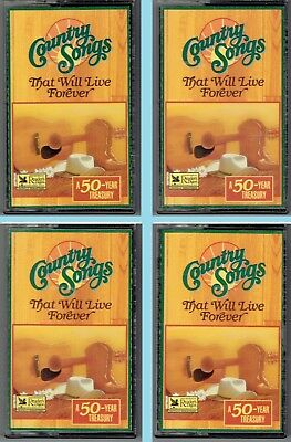 Readers Digest Country Songs THAT WILL LIVE FOREVER Various Artists 4 Cassette