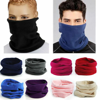 Unisex Shawl Fleece Snood Scarf Neck Warm Ski Hat Balaclava Thermal Winter Caps