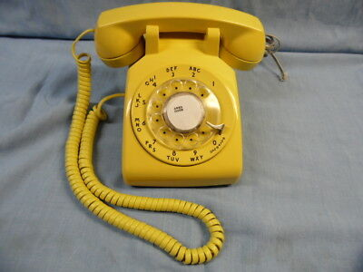 Vtg Bell System Western Electric Gold Rotary Desk Modular Phone ~Tested Works!