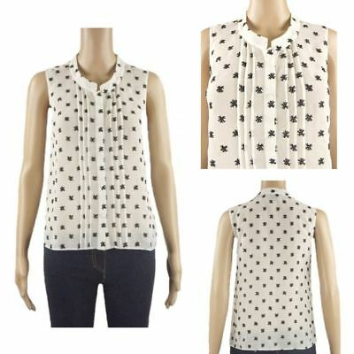 4 Items Wholesale Job Lot Ex Chainstore White Chiffon Blouse Tops Womens Size 4