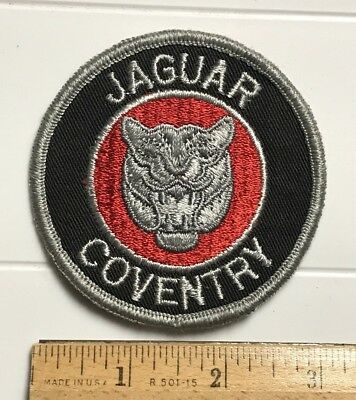 Jaguar Coventry English UK British Automobile Embroidered Round Patch