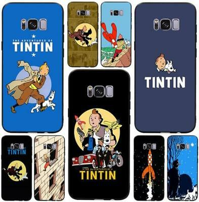 The Adventures of Tintin Soft TPU Silicone Case for Samsung Galaxy S8 S9 S6 S7