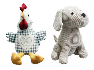 Door Stop Stopper Filled Heavy Animal Dog Chick Novelty Wedge cuddle Toy