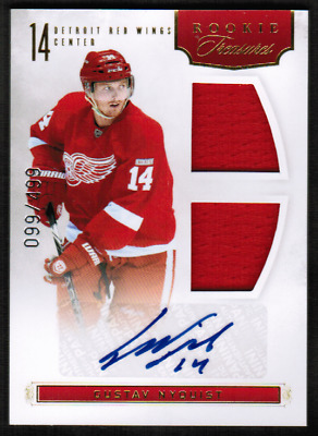 2011-12 Panini Rookie Anthology #141 Gustav Nyquist Jersey Auto /499 (ref 34001)