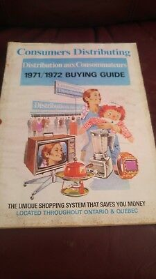VERY RARE Consumers Distributing Catalog  1971/72 in EX condition   210 pages