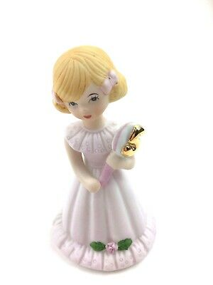 Enesco 1981 Growing Up Birthday Girls Figurine Blonde Hair Age 5 Cake Topper