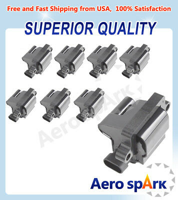 New Ignition Coil Pack of 8 For Chevy Silverado GMC V8 UF271 C1208 12558693