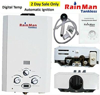 Hurricane Relief - Portable Tankless Water Heater Outdoor Shower Lpg
