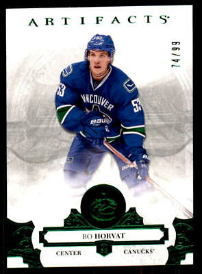 2017-18 Artifacts Emerald #58 Bo Horvat Canucks #/99 (ref 34009)