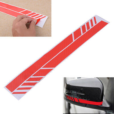 2pcs Side Mirror Stripe Racing Decal Emblem Sticker Red Carbon Fiber Decoration