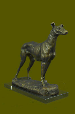 Bronze Sculptures Greyhound or Whippet Figurine Figures Vintage Statue Artwork