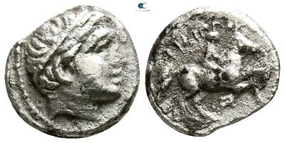 Savoca Coins Macedon Philipp II 1/5 Tetradrachm Apollo 2,41 g / 14 mm @WFG14529