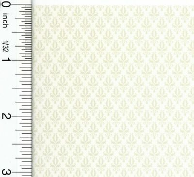Dollhouse Wallpaper Damask Cream
