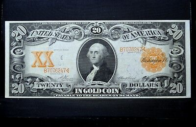 1906 $20 Gold Certificate ✪ Vf Very Fine ✪ Large Size Money L@@k 247 ◢Trusted◣