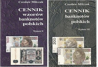 2 x PRICE LIST Catalog of polish specimen and banknotes  - Milczak 2018