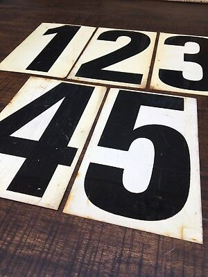 Vintage Industrial Metal Sign Marquee Numbers Two Sided