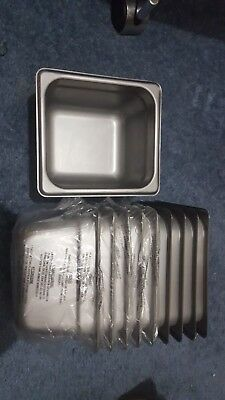 """10 pcs Special Steam Table Pan 1/6 Size 4"""" Deep"""