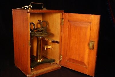 Late C19th JOHN BROWNING Lacquered Brass Spectroscope in Box